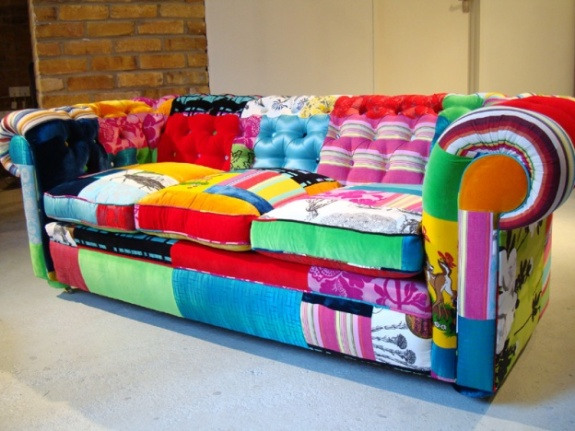 Squint's Patchwork Chesterfield Sofa