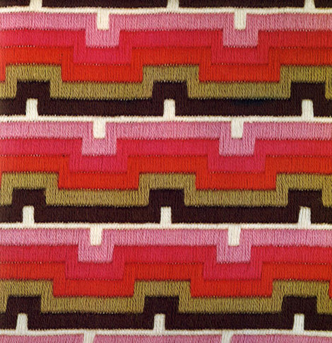 Flame Stitch Zig Zag Ribbon And Medallion Bargellos All