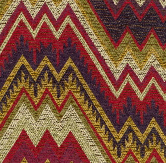 Bargello flame stitch upholstery fabric from Online stores