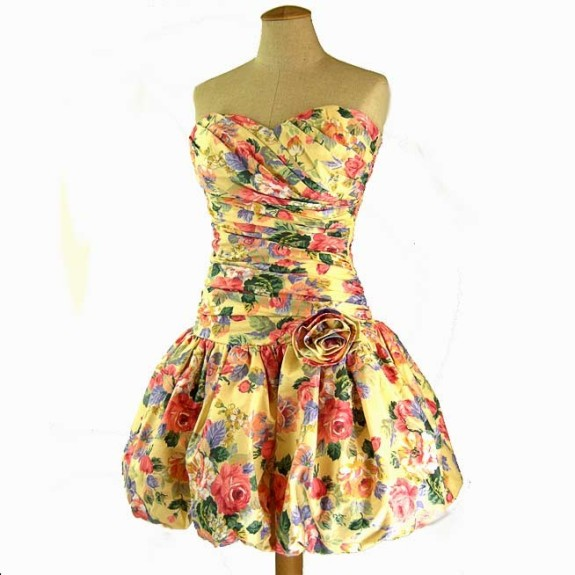vintage floral chintz dress