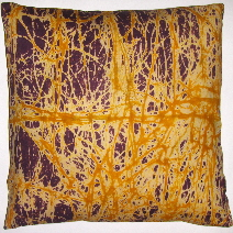 Fabricadabra's Ghana West Africa cracle batik pillow