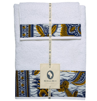 Royal Hut's batik bath towels