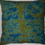West Ghana crackle batik pillow cover