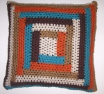 Hand crocheted retro color pillow cover