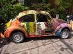 bokja design iconic VW Beetle covered in vintage fabric