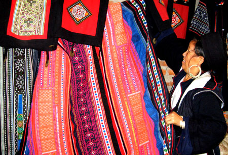 Hmong tribe fabrics woven in Vietnam