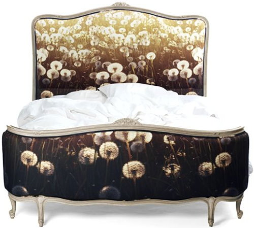 digitally printed fabric for bed by chair-couture