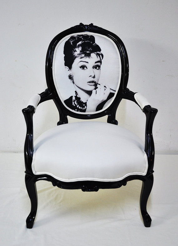 Digitally printed Audrey fabric chair- Name Design Studio