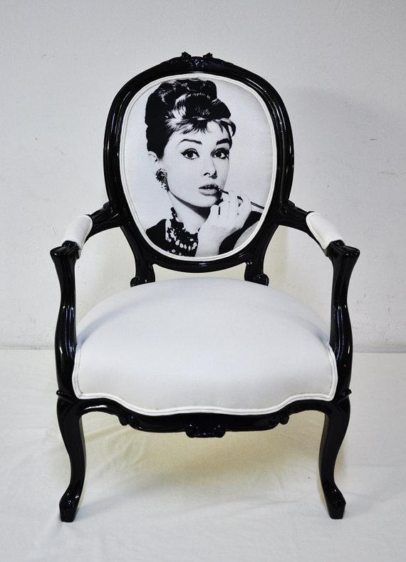 Digitally printed Audrey fabric chair- Name Design Studio