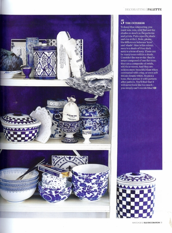 Elle Decoration March 2012- blue