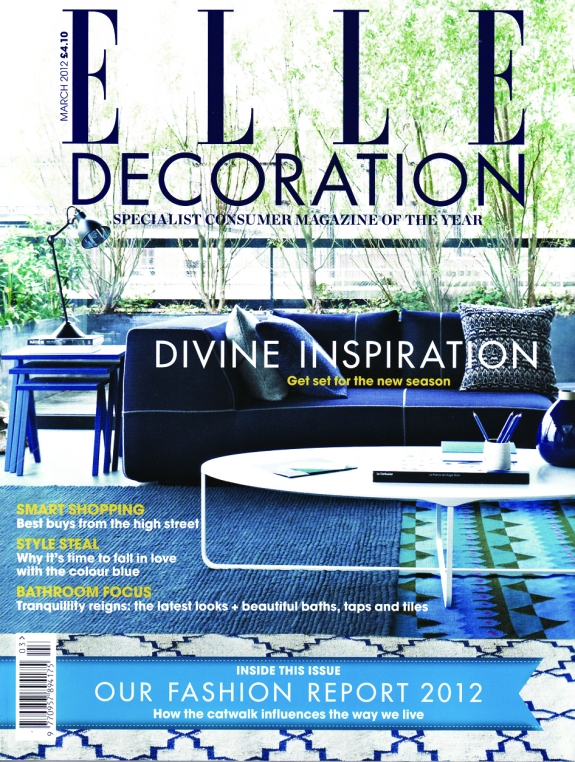 Elle Decoration UK march 2012 cover