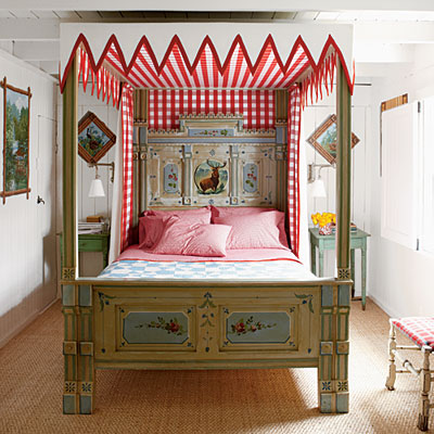 gingham canopie from Coastal Living