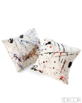 Splatter pillows by Lisa mason