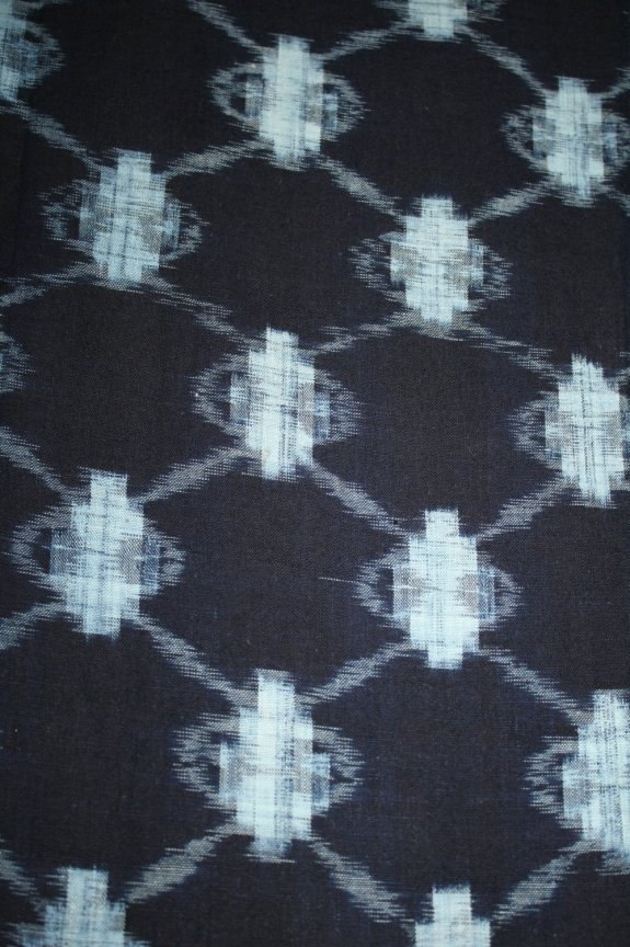 Indigo cotton kasuri fabric from 1970's
