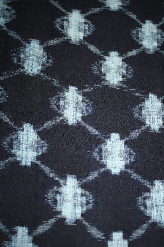 Indigo cotton kasuri fabric from 1970's