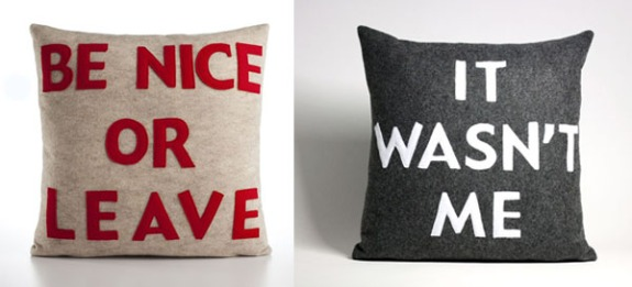 Typographic-Pillows
