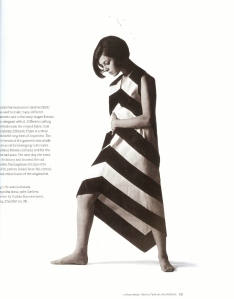 Another gorgeous creation by Annika Rimala for Marimekko in 1954. Do you recall what most women wore in the States in 1954?