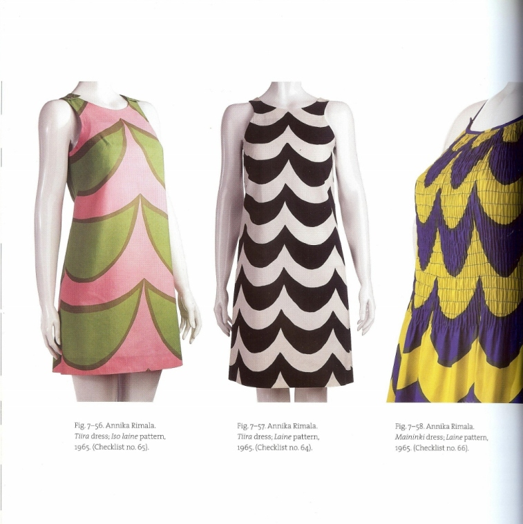 All three of these simple shift dresses are from 1965 and were designed by the very talented Marimekko designer Annika Rimala.