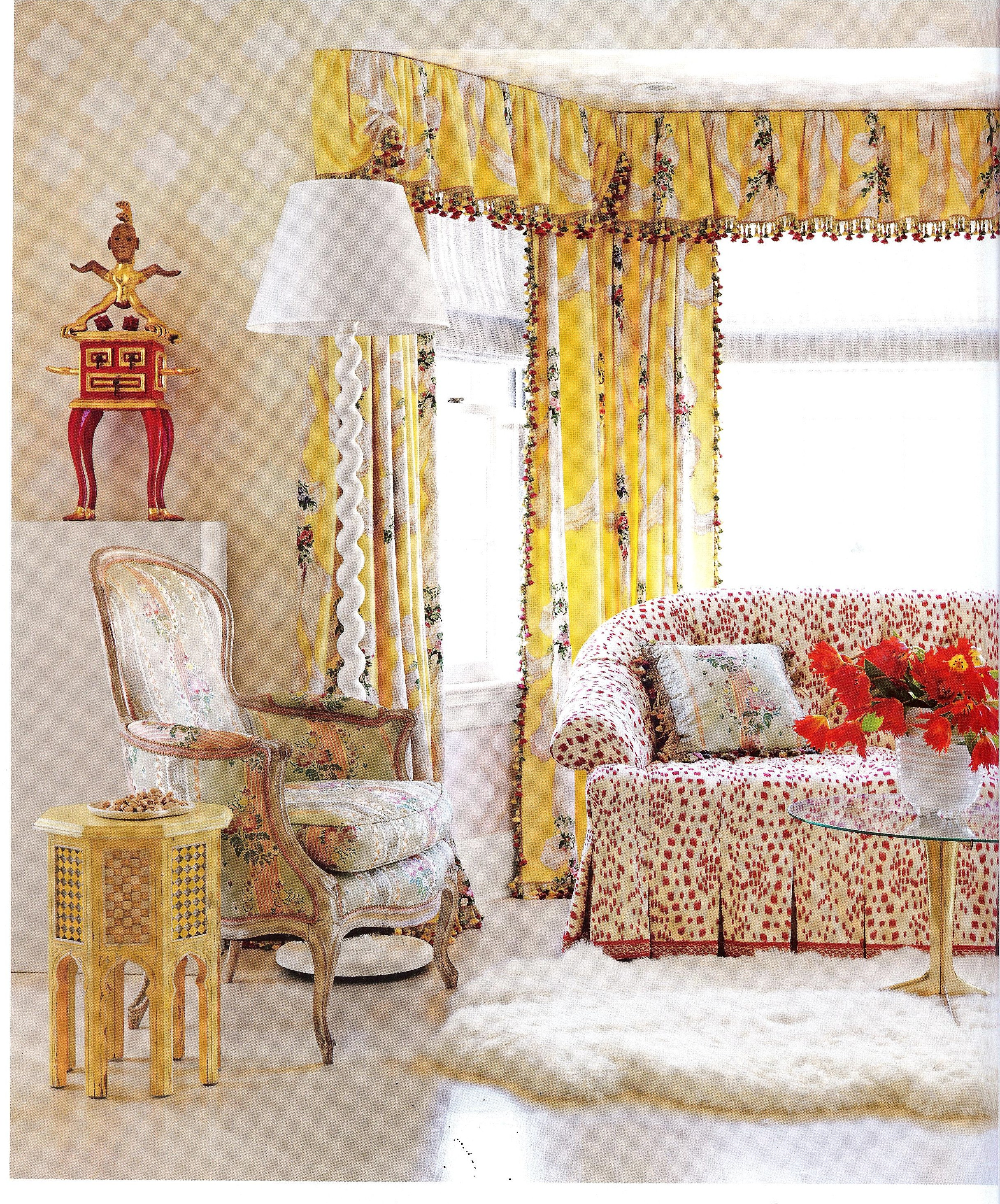 House Beautiful Living Room Ideas: Are Those Chintz Fabrics That I See In House Beautiful Feb
