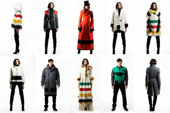 Hudson's Bay Company Point Blanket Designer Collaborations via FFFFOUND