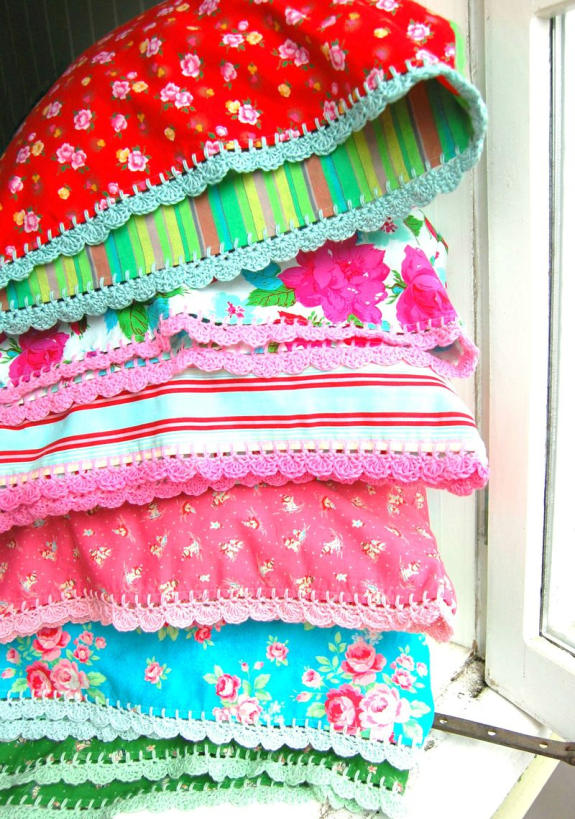 rosehip's crocheted pillow cases
