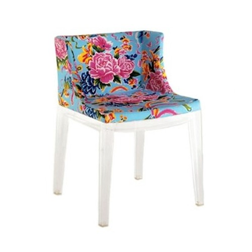 Made in Italy by Kartell, the Mademoiselle upholstered armchair