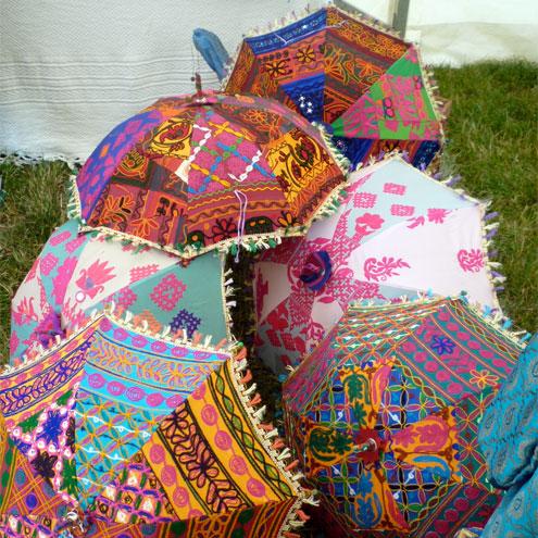 indian parasols