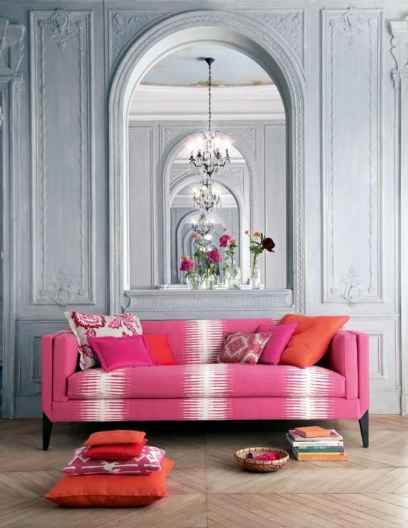 Manuel Canovas Kazan fabric on sofa