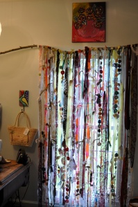 fabric scrap curtain