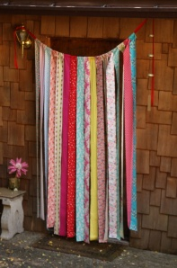 fabric strip curtain via etsy