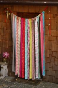 fabric strip curtain via etsy