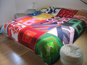 patchwork scarf bedspread by ouno Design