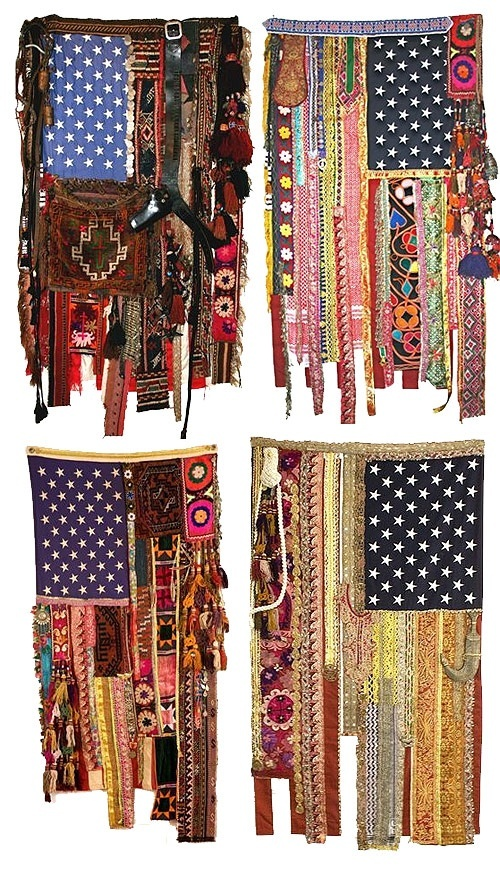 boho american flags