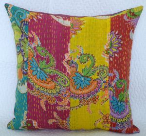 patchwork kantha cushion covers