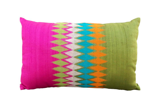 Vliving silk ikat pillow2