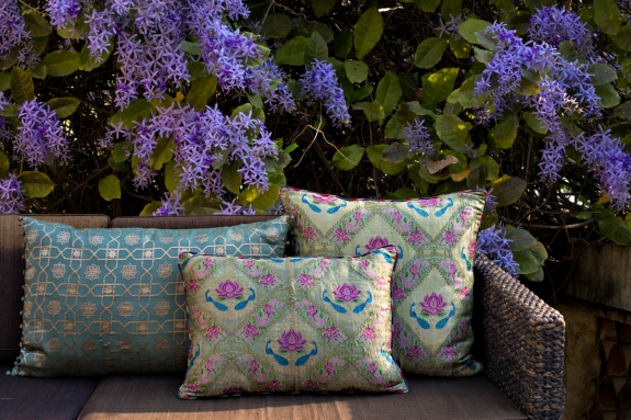 Good-Earth-brocade-silk-cushions