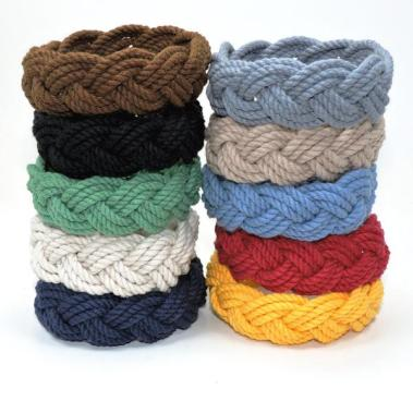 Classic sailor bracelets in nautical colors.