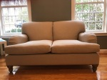 Pure-Upholstery-Chatham-loveseat-Salish-natural-walnut-stain-frontview