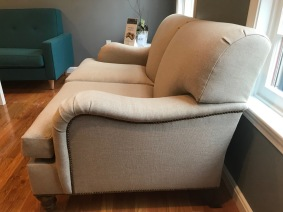 Pure-Upholstery-Chatham-loveseat-Salish-natural-walnut-stain-sideview2